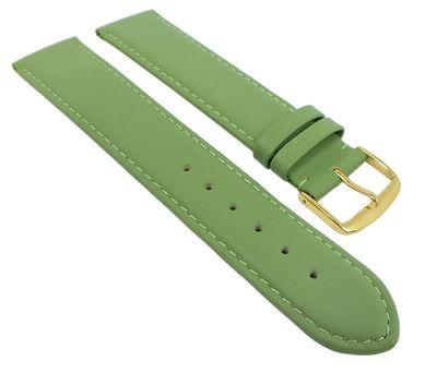 Uhrenarmband Kalbsleder weich grün Herzog Beach 20376G