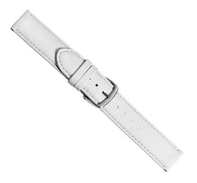 Beach Ersatzband Uhrenarmband Kalbsleder Weiss  20421S – Bild 1