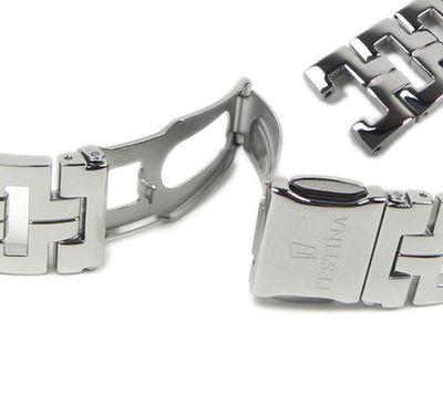 Festina Ersatzband Uhrenarmband Edelstahl Band Silberfarben für Damenuhr F16364 – Bild 3