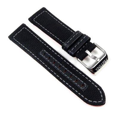 Festina Uhrenarmband 22mm | schwarz Textil/Leder für Herrenuhr F16566