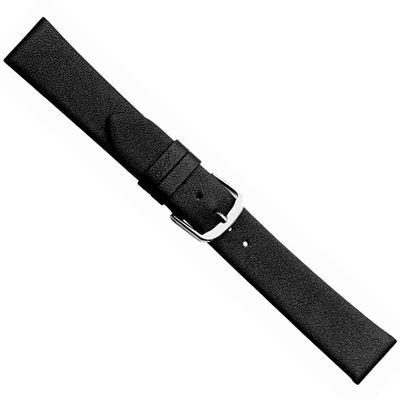 Uhrenarmband aus weichem Leder schwarz Herzog Design I 20492S – Bild 1