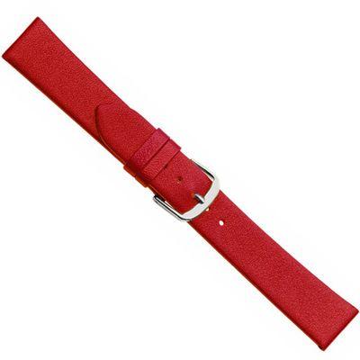 Uhrenarmband Kalbsleder weich rot Herzog Design I 20510S