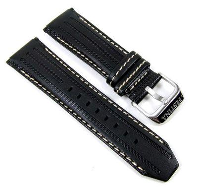 Festina Uhrenarmband Leder 25mm | schwarz/Weiß F16489/1 F16489 F16488 – Bild 1