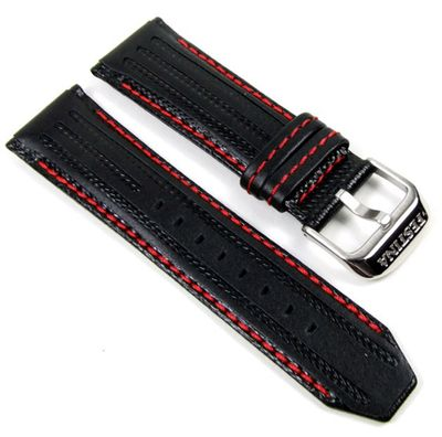 Festina Ersatzband Leder 25mm schwarz/Rot F16489/5 F16488 – Bild 1