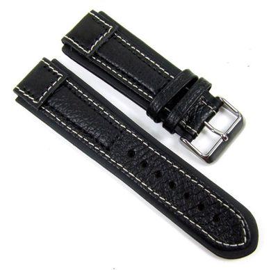 Birkenstock Terrasco Ersatzband Uhrenarmband Kalbsleder schwarz 20589S – Bild 1