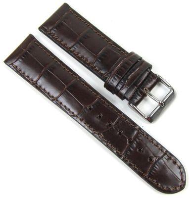 Birkenstock Missisippi Uhrenarmband Kroko Kalb Dunkelbraun 20633 – Bild 1