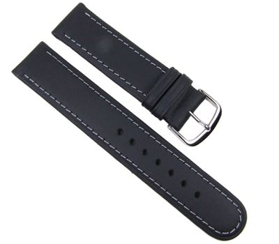 Birkenstock Sattelleder Ersatzband Uhrenarmband Kalb schwarz 20647