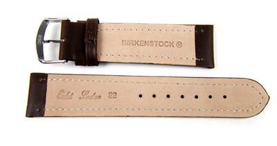 Birkenstock Sattelleder Ersatzband Uhrenarmband Kalb Dunkelbraun 20648 – Bild 3