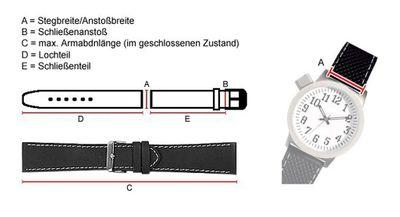 Minott Uhrenarmband echt Krokodilleder handgenäht braun 20797G – Bild 3