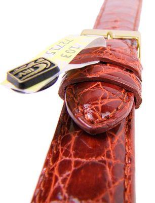 Uhrenarmband Echt Kroko Krokodilleder Braun gepolstert 20800G – Bild 2
