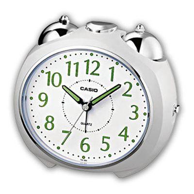 Casio Analog Wecker Bell Alarm mit Snooze Weiss TQ-369-7EF