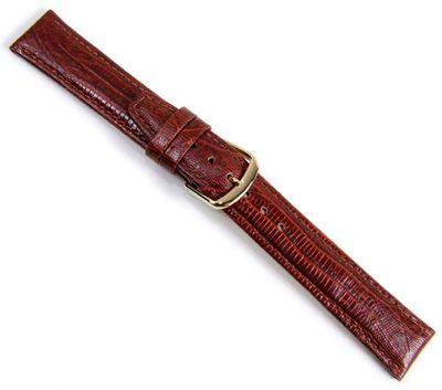 Tejuprägung Ersatzband Uhrenarmband Kalbsleder Braun 20958G – Bild 1