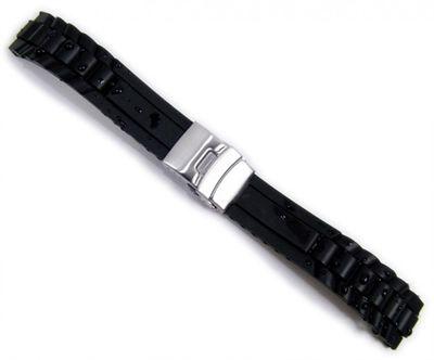 Minott Rubber Diver Uhrenarmband Silikon schwarz | Wasserfest 20976S – Bild 1
