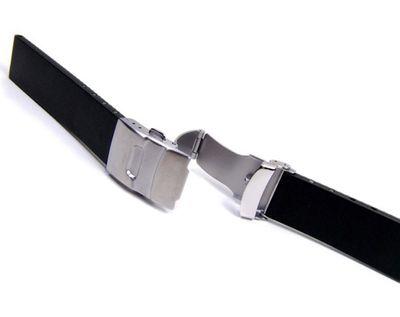 Minott Kautschuk Sport Uhrenarmband schwarz Wasserfest 20978S – Bild 2