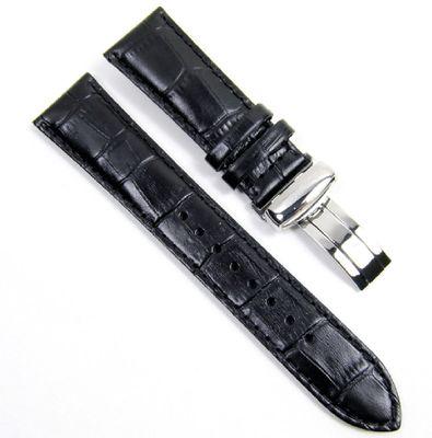 Casio Edifice Uhrenarmband Leder schwarz 23mm EFR-512L EFR-512