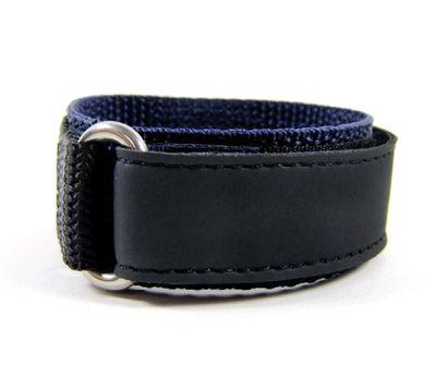 Minott Ersatzband Uhrenarmband Sport-Watch Loop schwarz/Blau 20mm – Bild 2