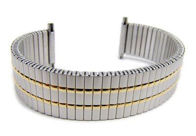 Minott Flex Band Ersatzband Uhrenarmband Bicolor Zugband mit Teleskop-Anstoß 21046