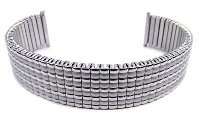 Minott Flex Uhrenarmband 20mm   Zugband Edelstahl silbern 21132S – Bild 1