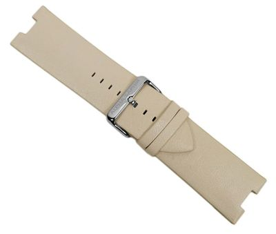 Alpha Saphir Ersatzband Uhrenarmband Leder Band Creme für AS 298D – Bild 1