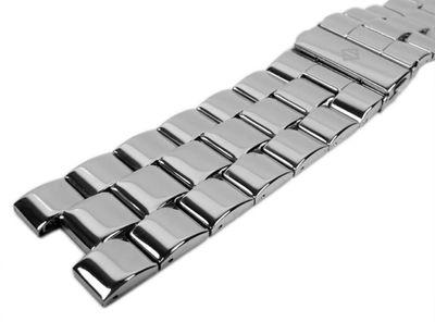 Alpha Saphir Ersatzband Uhrenarmband Edelstahl Band Silberfarben für AS 298 – Bild 2