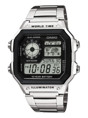 Casio Collection Herrenuhr Armbanduhr Edelstahl Uhr Digitaluhr AE-1200WHD-1AVEF