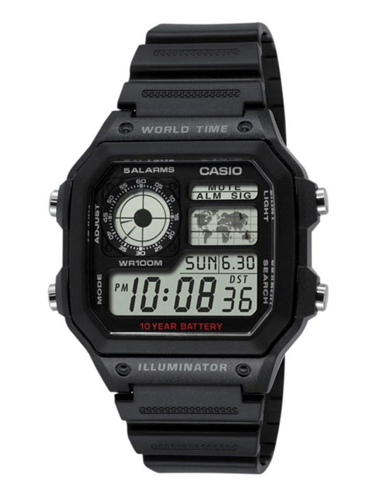 Schwarz Herrenuhr Armbanduhr Resin Casio 1200wh Collection Uhr Digitaluhr Ae 1avef XZPiuOkT