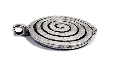 Minott Kette schwarzes Lederband zum verknoten mit rundem Anhänger 21459 – Bild 3