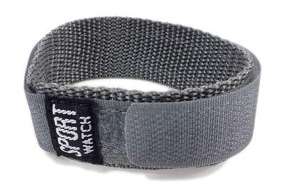 Durchzugsband Textil Grau 18 - 20mm Minott Sport-Watch 21520