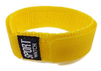 Durchzugsband Textil gelb 18 - 20mm Minott Sport-Watch 21521