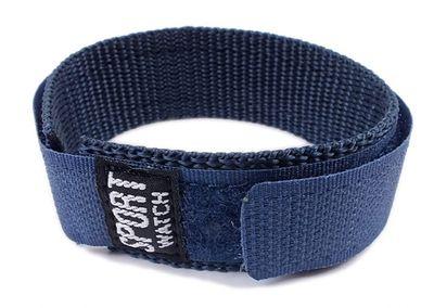 Minott Durchzugsband Textil Blau 18 - 20mm Sport-Watch 21524