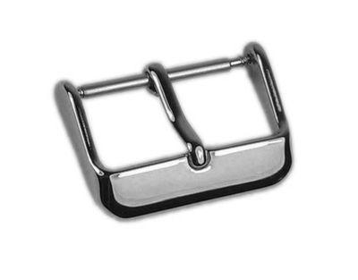 Minott Chrono Ersatzschliesse Dornschließe Edelstahl Silberfarben für Lederarmbänder 21537