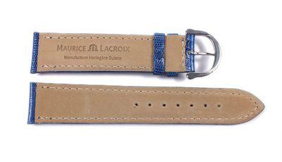 Maurice Lacroix Ersatzband Echt Teju-Eidechsen-Leder Royalblau 21544S – Bild 3