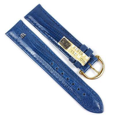 Maurice Lacroix Ersatzband Uhrarmband Echt Teju-Eidechsen-Leder Royalblau 21546G – Bild 1