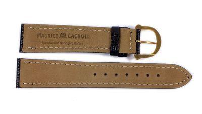 Maurice Lacroix Ersatzband Uhrarmband Echt Teju-Eidechsen-Leder schwarz 21547G – Bild 3