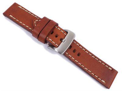Aeronautica Vintage Ersatzband Uhrenarmband Fliegerband Optik Leder Hellbraun 26mm – Bild 2