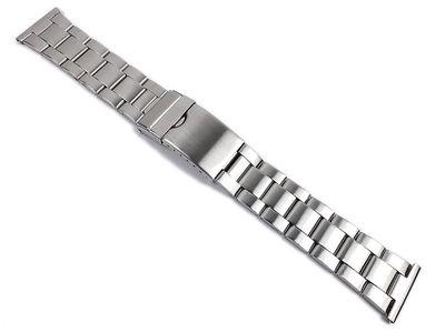 Minott Uhrenarmband 22mm | Edelstahl Silberfarben, satiniert 21582S