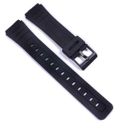 Minott Ersatzband Uhrenarmband Kautschuk Band schwarz 18mm 21595 – Bild 1