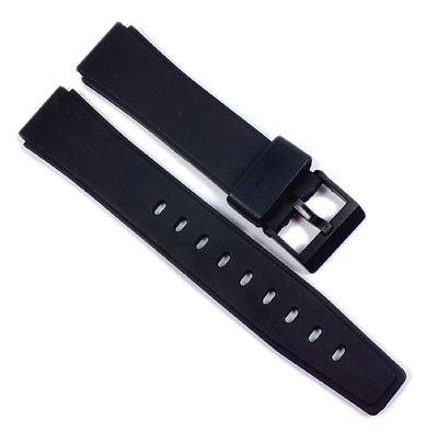 Minott Uhrenarmband 17mm | Kautschuk schwarz mit Dornschließe 21598 – Bild 1