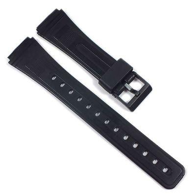 Uhrenarmband XL Kunststoff schwarz 19mm Minott 21601 – Bild 1
