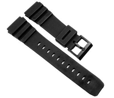 Uhrenarmband XL Kunststoff schwarz glatt 22mm Minott 21603 – Bild 1