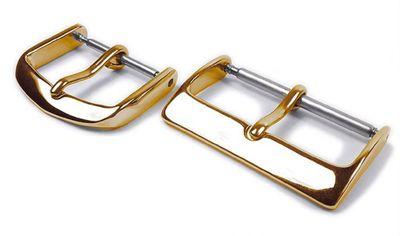 Minott Dornschließe Edelstahl gelbgoldfarden für Lederarmbänder 21658G – Bild 1