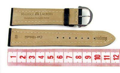 Maurice Lacroix Ersatzband Uhrarmband Leder Tiago dunkelblau 21724S – Bild 2