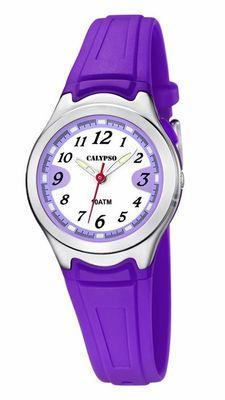 Calypso  Armbanduhr Kinderuhr Analoguhr Lila mit Licht 10ATM K6067/2