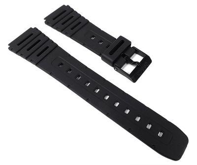 Casio Uhrenarmband 20mm | Resin schwarz W-741 W-720 CA-53W