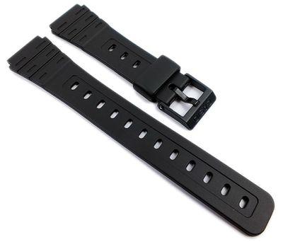 Casio Ersatzband | Uhrenarmband Resin schwarz 18mm W-59-1VD W-59