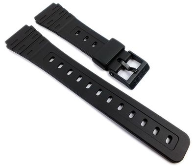 Casio Ersatzband | Uhrenarmband Resin schwarz 18mm W-59-1VD W-59 – Bild 1