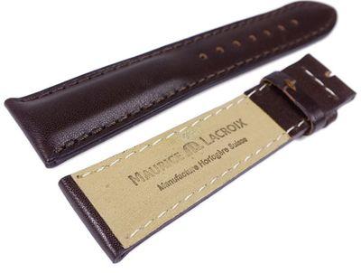 Maurice Lacroix Galant Miros Marken Uhrenarmband Leder Dunkelbraun 22mm 22003F – Bild 2