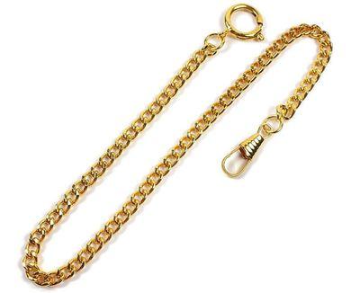 Minott Taschenuhrkette Gliederkette Metall vergoldet RE-22032 – Bild 1