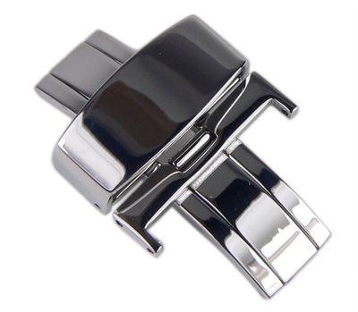 Faltschließe Butterfly für Lederbänder ohne Drücker Silbern 22051S