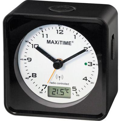 Maxitime Analog/Digital Funkwecker Snooze Beleuchtung schwarz 0950544 – Bild 1